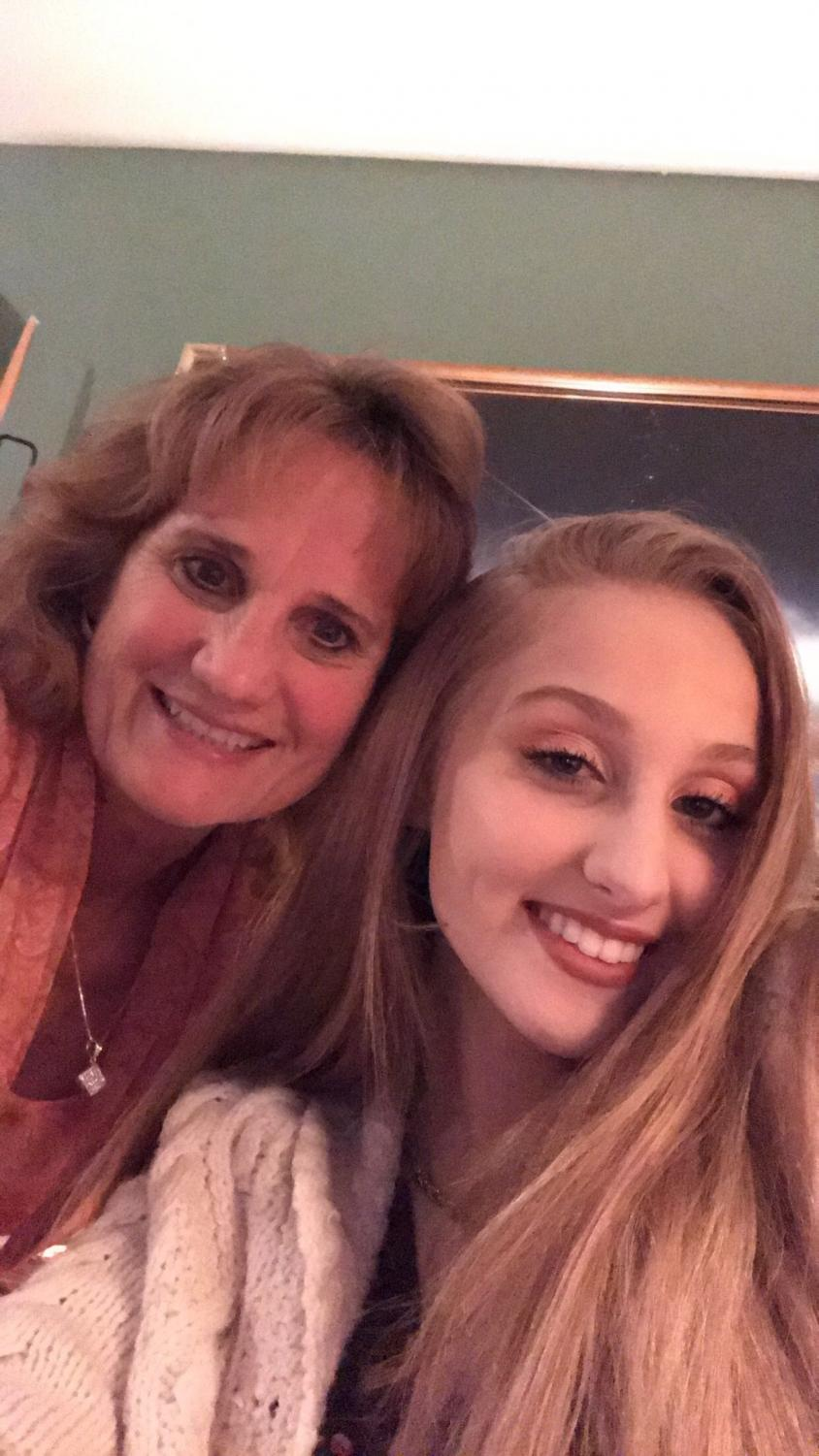 Brooke Barnes and her mom,