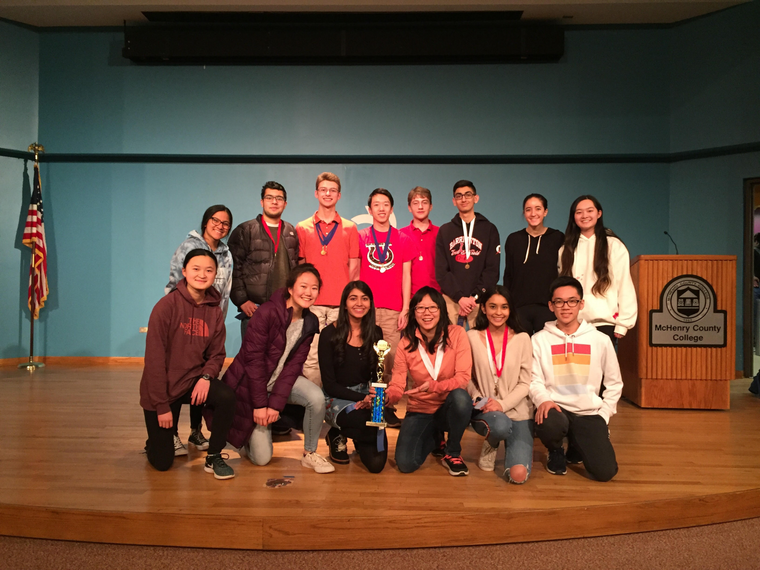 Coach Patrick Houk and the BHS Academic Challenge Team earned a perfect score and received 1st-place in the McHenry County Regional Competition.