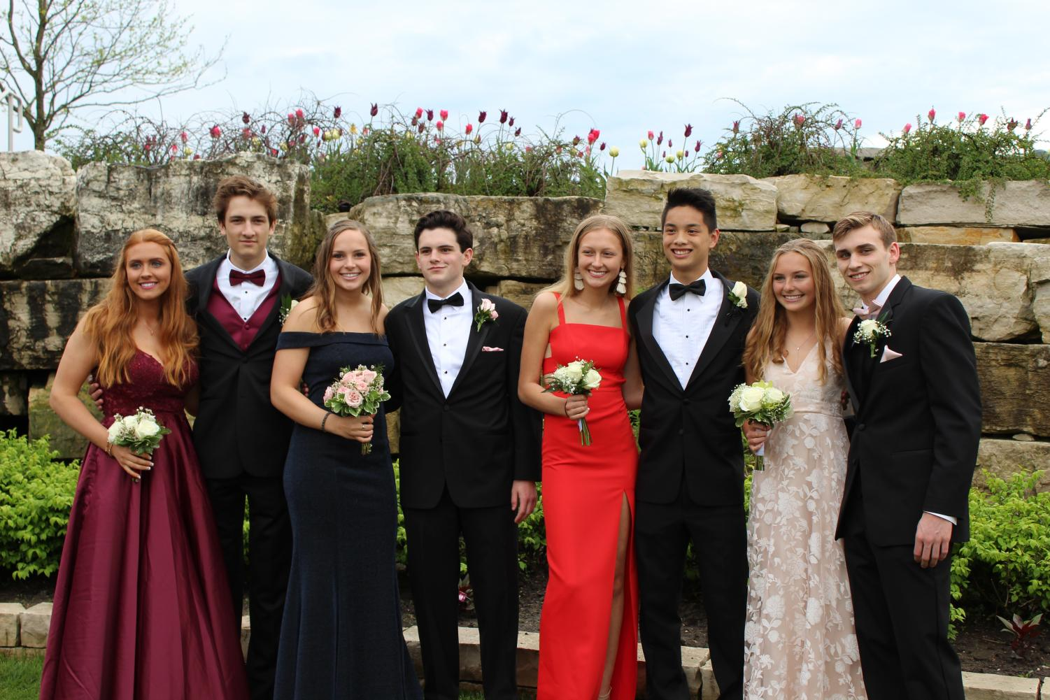 Lily Werner is shown above celebrating her Junior Prom with her buds!
